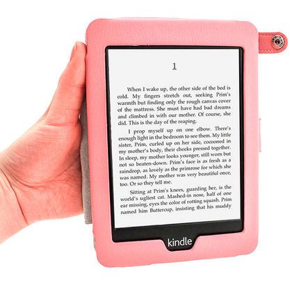 iGadgitz Pink PU 'Bi-View' Leather Case for Amazon Kindle Paperwhite 2015 2014 2013 2012 With Sleep/Wake & Hand Strap Thumbnail 6