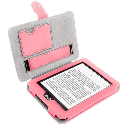 iGadgitz Pink PU 'Bi-View' Leather Case for Amazon Kindle Paperwhite 2015 2014 2013 2012 With Sleep/Wake & Hand Strap Thumbnail 3