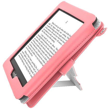 iGadgitz Pink PU 'Bi-View' Leather Case for Amazon Kindle Paperwhite 2015 2014 2013 2012 With Sleep/Wake & Hand Strap Thumbnail 7
