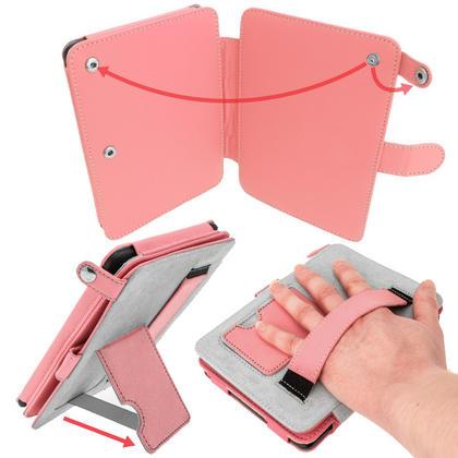iGadgitz Pink PU 'Bi-View' Leather Case for Amazon Kindle Paperwhite 2015 2014 2013 2012 With Sleep/Wake & Hand Strap Thumbnail 4