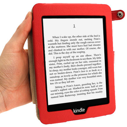 iGadgitz Red PU 'Bi-View' Leather Case for Amazon Kindle Paperwhite 2015 2014 2013 2012 With Sleep/Wake & Hand Strap Thumbnail 6