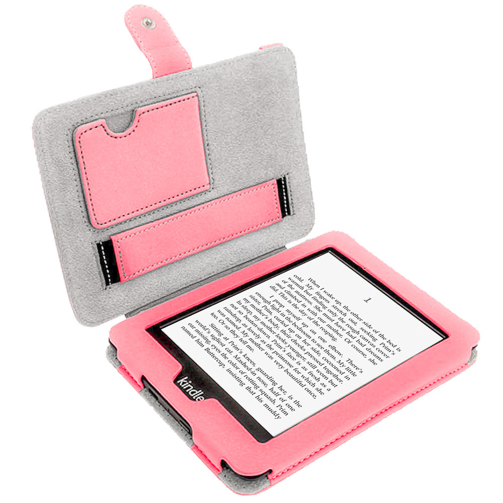 Rose pu tui housse case cover cuir pour amazon kindle for Housse kindle paperwhite