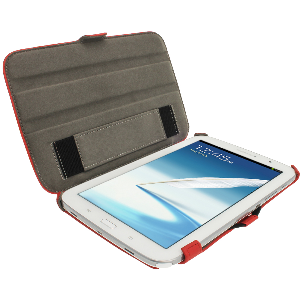 red pu leather case for samsung galaxy note 8 0 3g wi fi. Black Bedroom Furniture Sets. Home Design Ideas