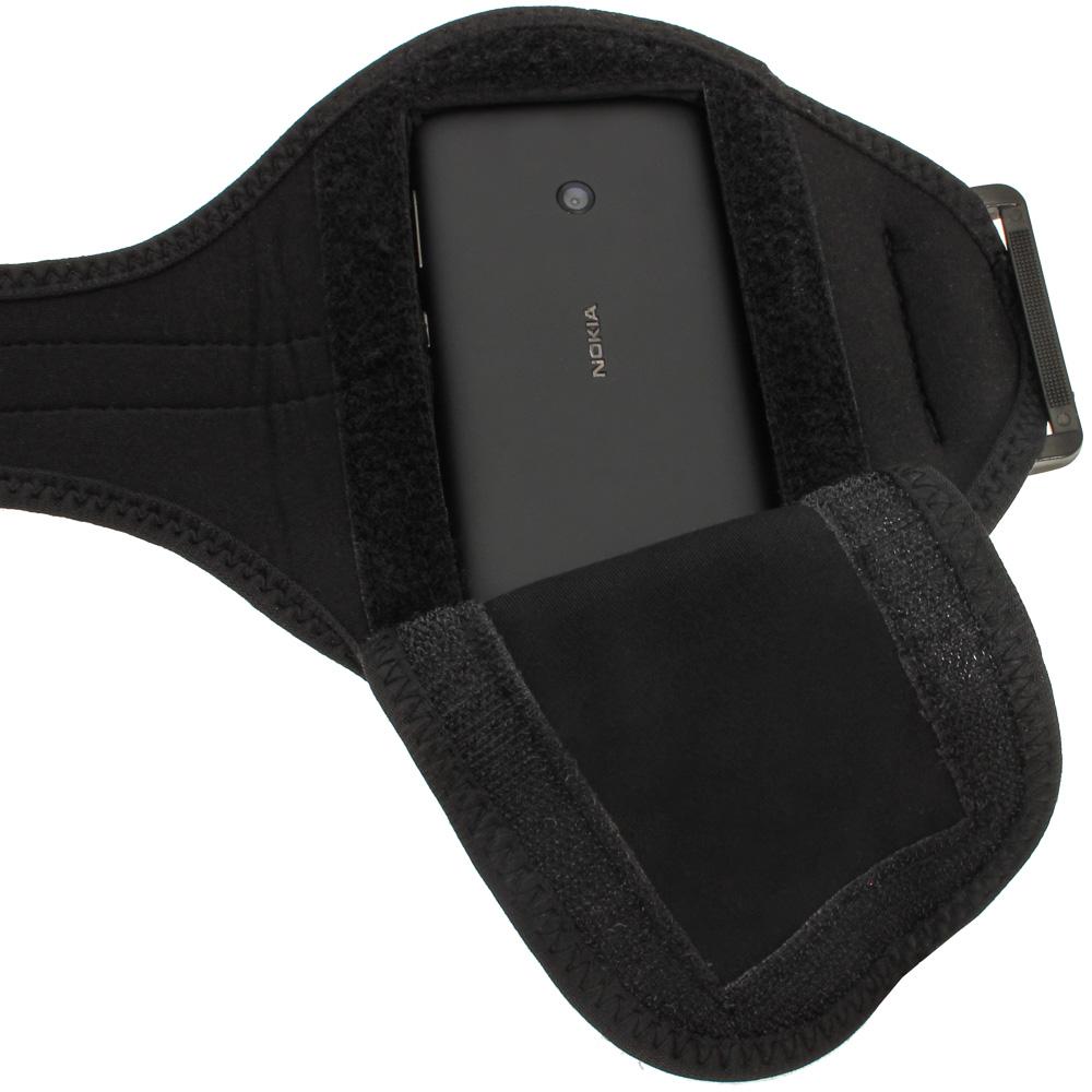 Noir armband sport brassard pour nokia lumia 520 530 for Housse neoprene