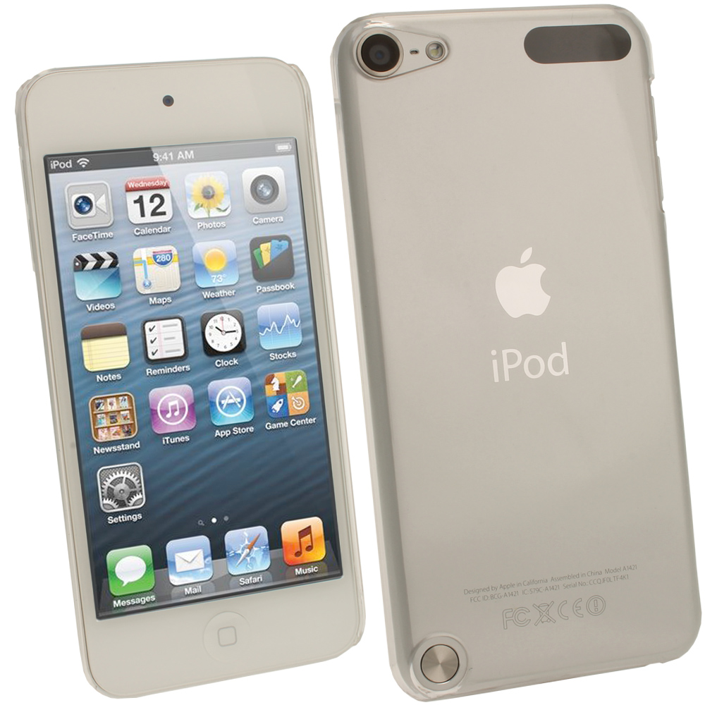 iGadgitz Clear Transparent PC Hard Case Cover for Apple iPod Touch 5th Generation 5G 32GB 64GB + Screen Protector