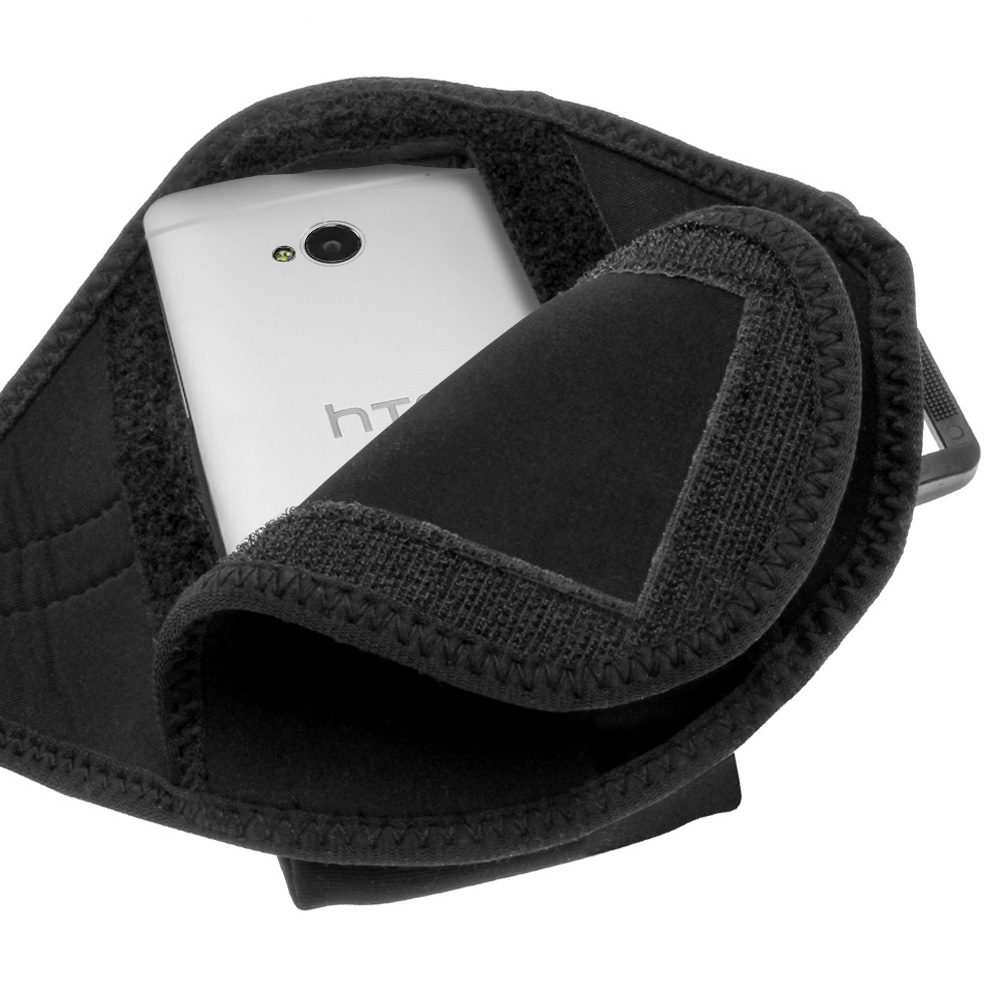 Black Sports Armband for HTC One M7 Android Smartphone Gym ...
