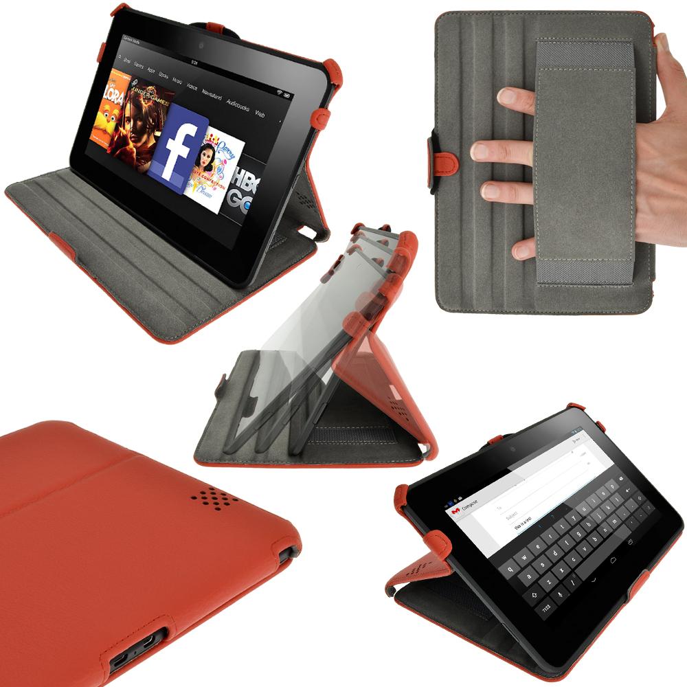 Funda eco piel case cover para amazon kindle fire hd 8 9 display wi fi tablet ebay - Kindle funda ...