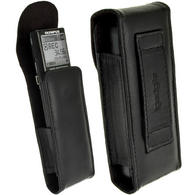 iGadgitz Black Genuine Leather Case Cover for Olympus VN-713PC Voice Recorder Digital Dictaphone