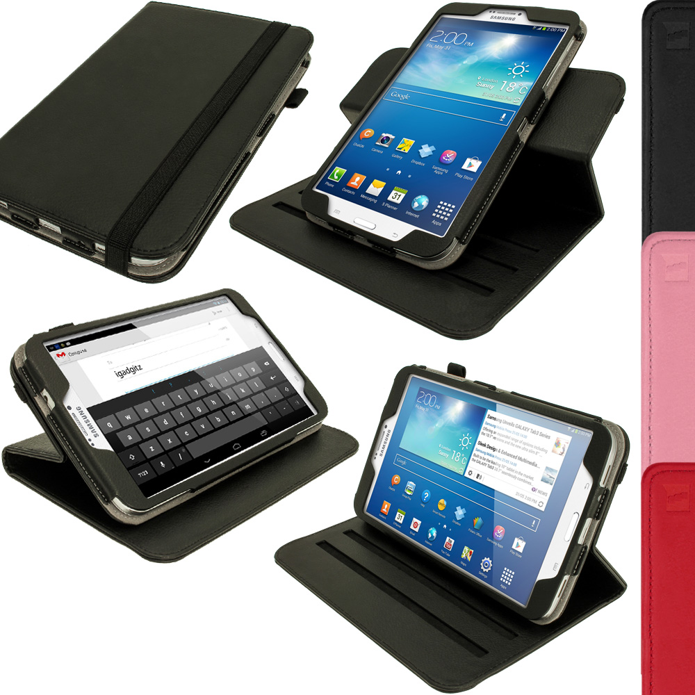 360° PU Leather Case Cover for Samsung Galaxy Tab 3 8.0 ...