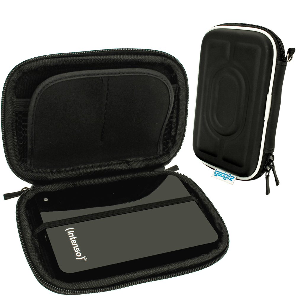 """iGadgitz Black Hard Case for Intenso Memory Station, Safe, Play, 2 Move, Drive, Blade, Home, Box 2.5"""" USB Portable External HD"""