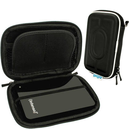 """iGadgitz Black Hard Case for Intenso Memory Station, Safe, Play, 2 Move, Drive, Blade, Home, Box 2.5"""" USB Portable External HD Thumbnail 1"""