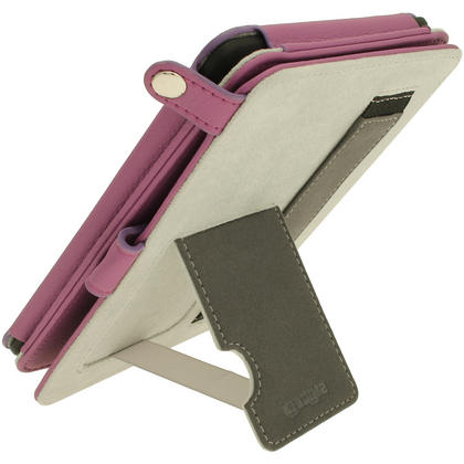 iGadgitz Purple PU 'Bi-View' Leather Case for Amazon Kindle Paperwhite 2015 2014 2013 2012 With Sleep/Wake & Hand Strap Thumbnail 7
