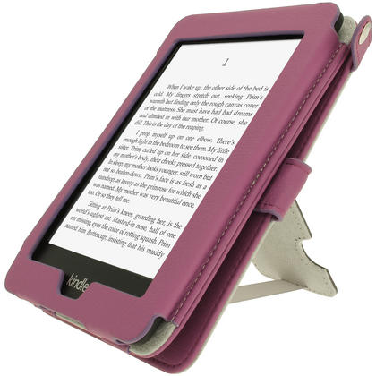 iGadgitz Purple PU 'Bi-View' Leather Case for Amazon Kindle Paperwhite 2015 2014 2013 2012 With Sleep/Wake & Hand Strap Thumbnail 8