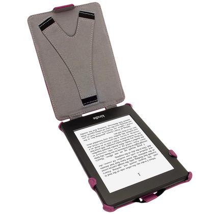 iGadgitz Purple PU 'Heat Molded' Leather Case Cover forAmazon Kindle Paperwhite 2015 2014 2013 2012 + Sleep Wake Thumbnail 3