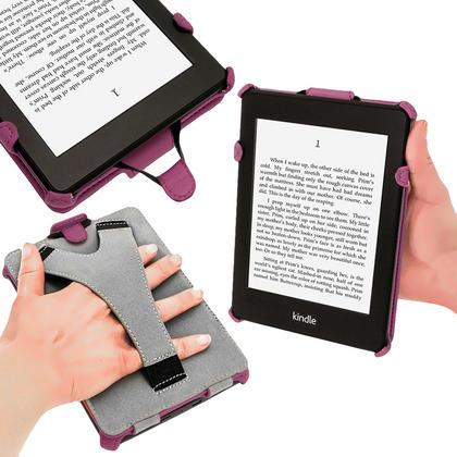 iGadgitz Purple PU 'Heat Molded' Leather Case Cover forAmazon Kindle Paperwhite 2015 2014 2013 2012 + Sleep Wake Thumbnail 5