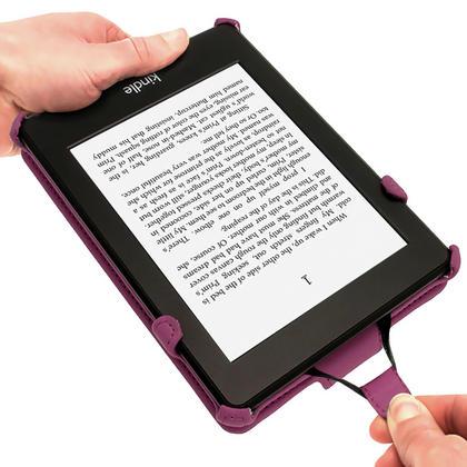 iGadgitz Purple PU 'Heat Molded' Leather Case Cover forAmazon Kindle Paperwhite 2015 2014 2013 2012 + Sleep Wake Thumbnail 4