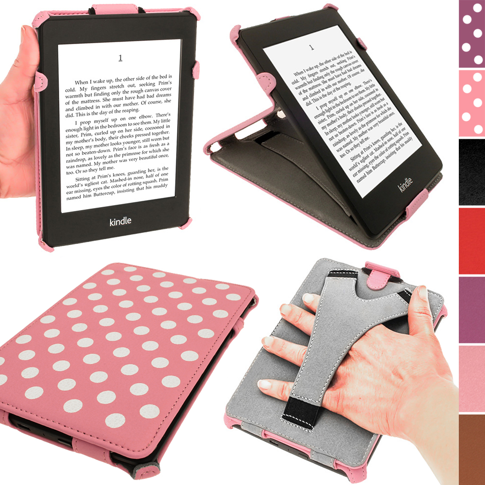 /iGadgitz Polka Dot PU Leather Case ForAmazon Kindle