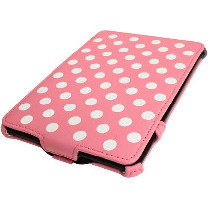 iGadgitz Polka Dot PU Leather Case forAmazon Kindle Paperwhite 2015 2014 2013 2012 with Sleep/Wake & Hand Strap Thumbnail 2
