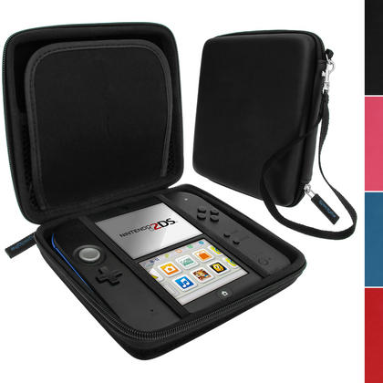 iGadgitz EVA Hard Protective Storage Case Cover with Carry Handle for Nintendo 2DS (various colours) Thumbnail 2