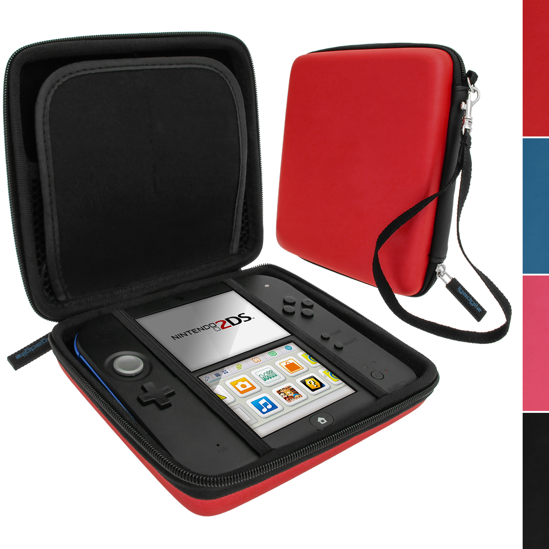 Rouge eva tui housse pochette case cover rigide avec for Housse nintendo 2ds