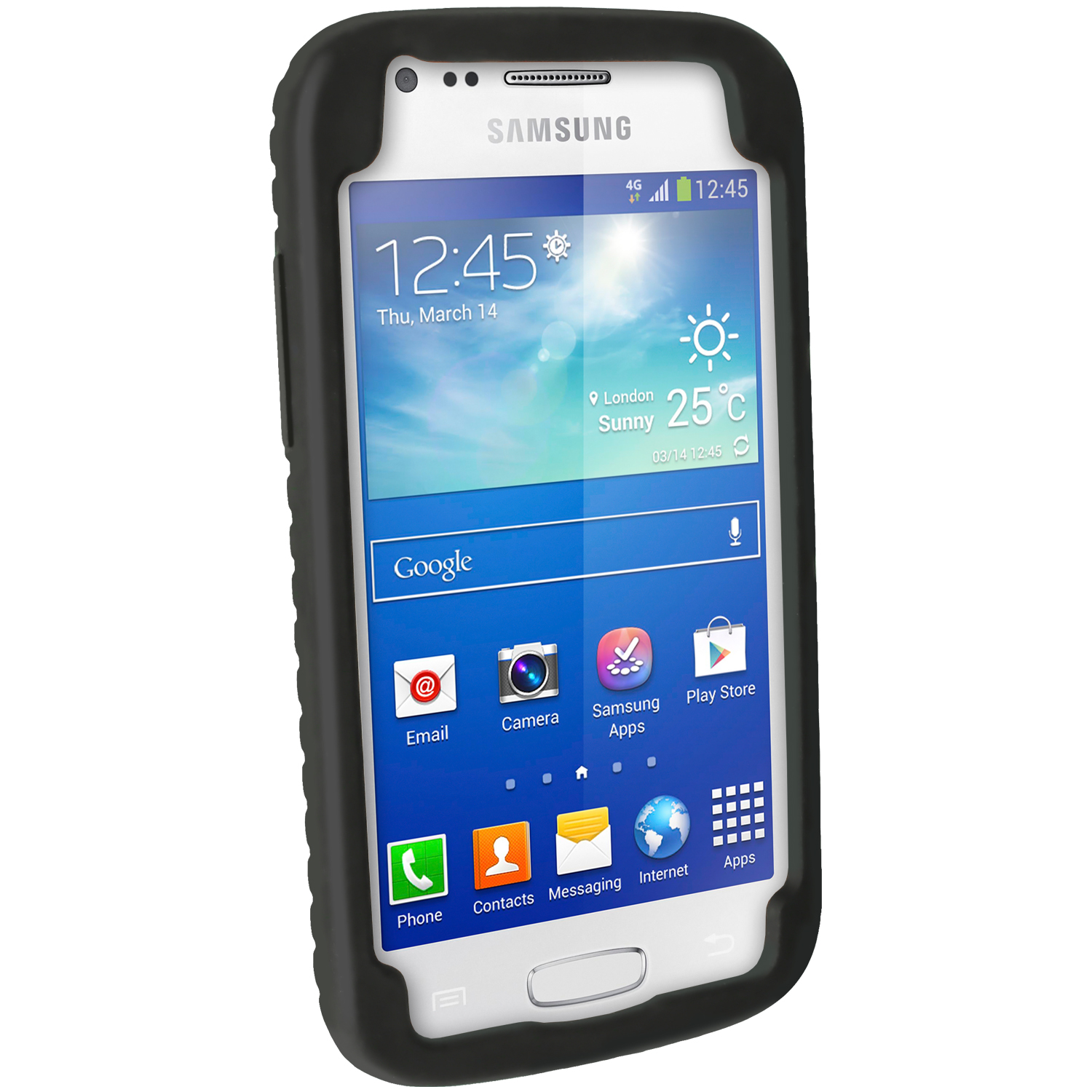 Black Silicone Tyre Skin Case Cover For Samsung Galaxy Ace