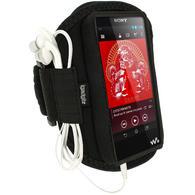 iGadgitz Black Neoprene Sports Armband for Sony Walkman NWZ-F886 NWZ-F887 F-Series Video MP3 Player 32GB 64GB
