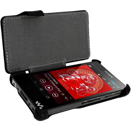 iGadgitz PU Leather Flip Case for Sony Walkman NWZ-F886-F887 with Viewing Stand + Screen Protector (various colours) Thumbnail 4