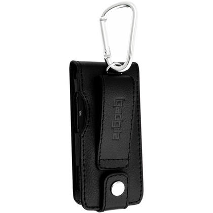 iGadgitz Leather Case for Sony Walkman NWZ-E585 with Detachable Carabiner + Screen Protector (various colours) Thumbnail 3