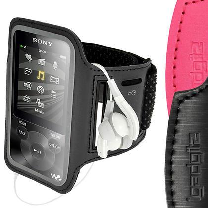 iGadgitz Anti-Slip Reflective Neoprene Sport Armband for Sony Walkman NWZ-E585 & NWZ-E384 MP3 Player (various colours) Thumbnail 1