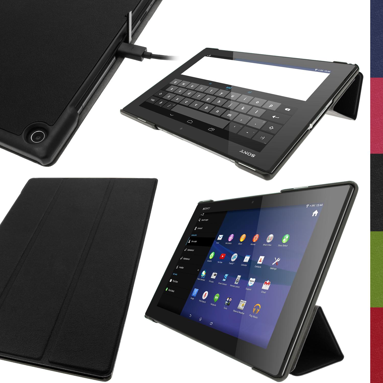 Pu cuero funda carcasa piel case para sony xperia z2 10 1 sgp511 tablet cover ebay - Funda xperia z tablet ...