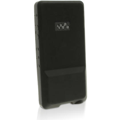 iGadgitz Black Rubber Silicone Gel Case Cover for Sony Walkman NWZ-ZX1 + Screen Protector Thumbnail 4
