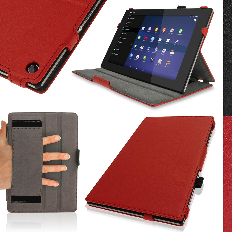 Pu leather stand folio case for sony xperia z2 sgp511 tablet cover sleep wake ebay - Funda xperia z tablet ...