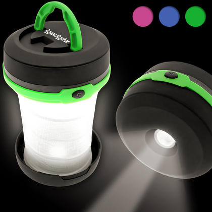 3 in 1 Pop Up LED Camping Lantern + Flashlight + Emergency Light
