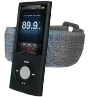 iGadgitz BLACK Silicone Skin Case & Armband for Apple iPod Nano 5th Gen (with Video Camera) + Screen Protector & Lanyard