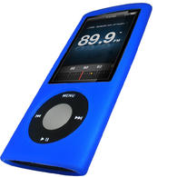 iGadgitz BLUE Silicone Skin Case for New Apple iPod Nano 5th Gen (with Video Camera) + Screen Protector & Lanyard