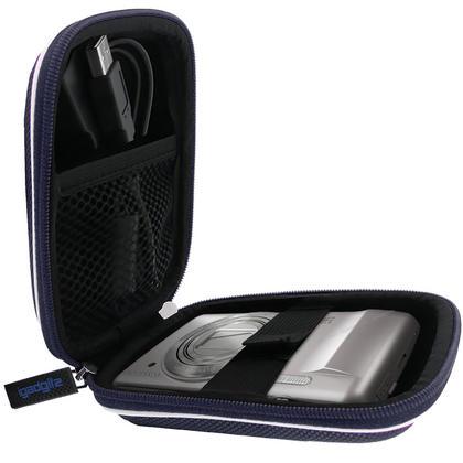 iGadgitz Blue EVA Travel Hard Case Cover for Digital Cameras / Video Pocket Camcorders Thumbnail 4