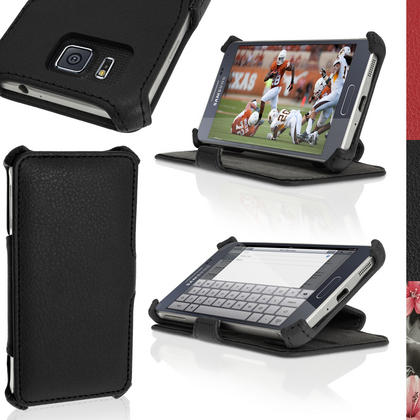 iGadgitz Premium Folio PU Leather Case for Samsung Galaxy Alpha SM-G850 with Viewing Stand + Screen Protector