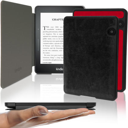 iGadgitz Slim PU Leather Shell Case for Amazon Kindle Voyage 7th Gen (Oct. 2014) with Sleep/Wake & Magnetic Closure Thumbnail 1