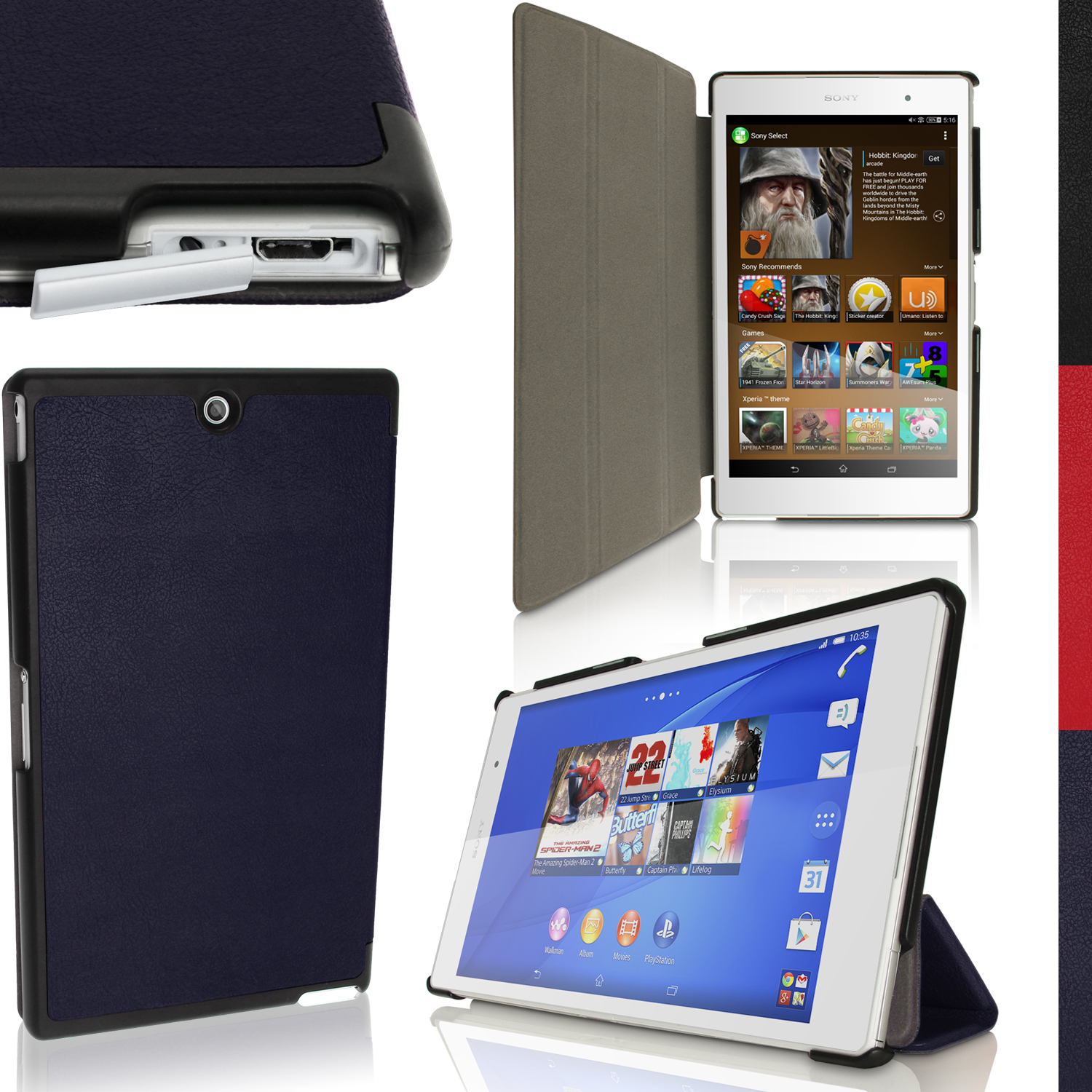 PU Leather Smart Cover for Sony Xperia Z3 Tablet Compact ...