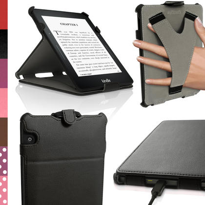 iGadgitz PU Leather Stand Case for Amazon Kindle Voyage 2014 Flip Folio Cover with Sleep Wake Thumbnail 1