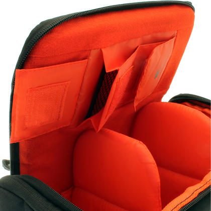 iGadgitz Medium Black Water Resistant SLR DSLR Bridge Messenger Camera Bag with Rain Cover + Shoulder & Waist Strap Thumbnail 5