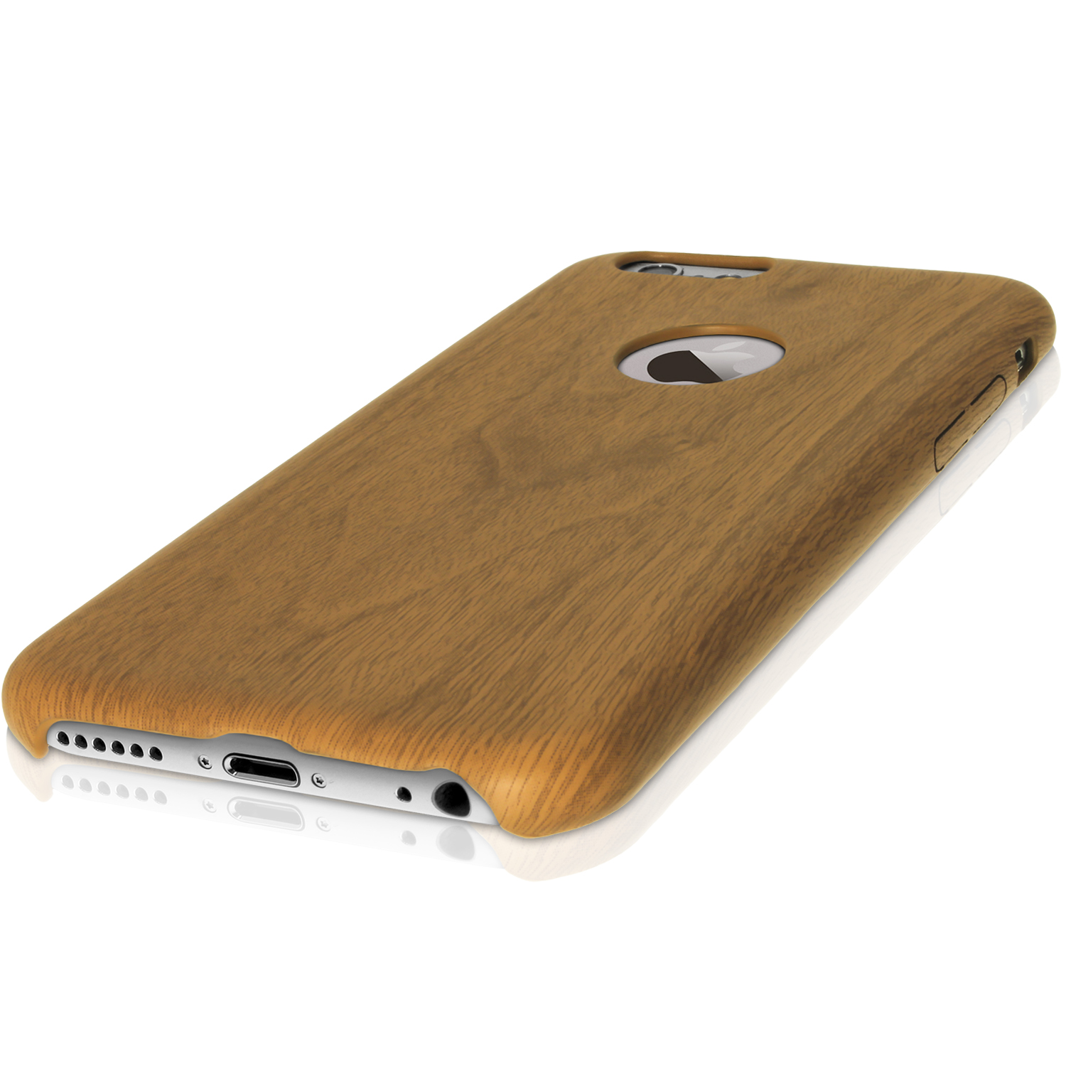 Igadgitz Oak Wood Effect Soft Pc Case For Apple Iphone 6