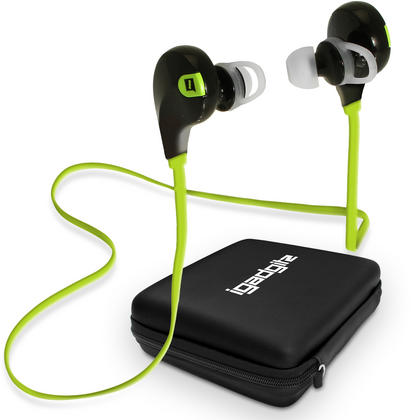 iGadgitz IGX-450S Wireless Bluetooth 4.0 Stereo In-ear Earphones with Microphone for Hands free Calling with Case