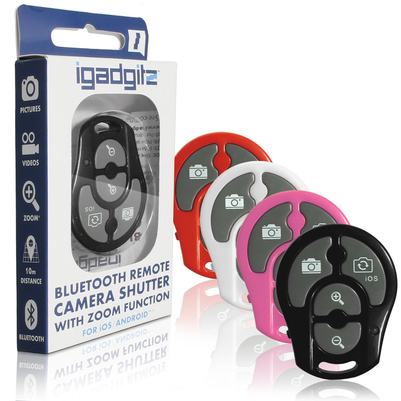 Igadgitz Selfie Bluetooth Remote Shutter Zoom For Samsung