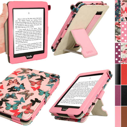 iGadgitz 'Desginer Collection' PU Leather Case for Amazon Kindle Paperwhite 2015 2014 2013 2012 With Sleep Wake + Stand  Thumbnail 1