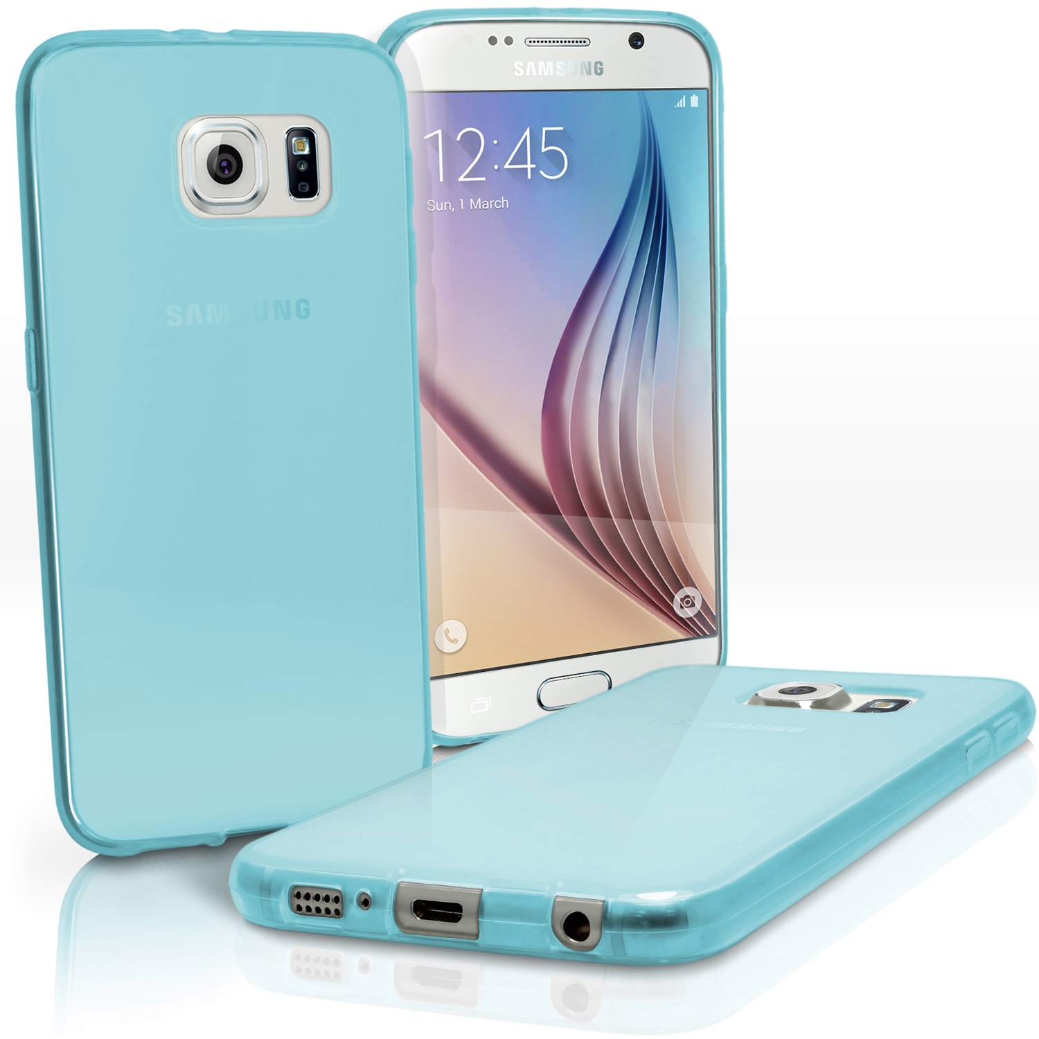 Glossy TPU Gel Case for Samsung Galaxy S6 SM-G920F Skin Cover + Screen Protector