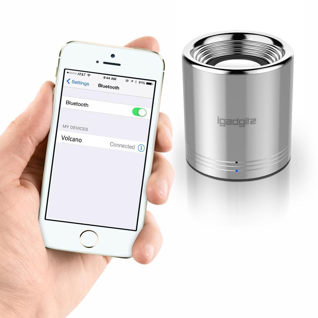 argent haut parleur portable st r o enceinte bluetooth sans fil iphone samsung ebay. Black Bedroom Furniture Sets. Home Design Ideas
