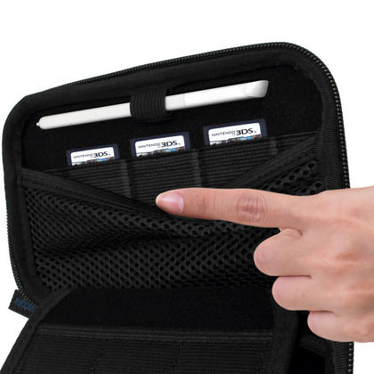 iGadgitz EVA Hard Travel Carry Case Cover for New Nintendo 3DS with Clip On Carry Strap Thumbnail 3