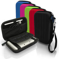 iGadgitz EVA Hard Travel Carry Case Cover for New Nintendo 3DS XL 3DSXL (All Versions) with Clip On Carry Strap