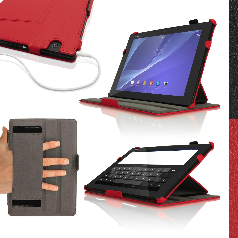 Pu cuero funda carcasa para sony xperia z4 tablet sgp771 712 cubierta piel cover ebay - Funda xperia z tablet ...